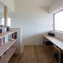 寺津の家/墨色の押縁板壁の家の写真 2階の書斎コーナー