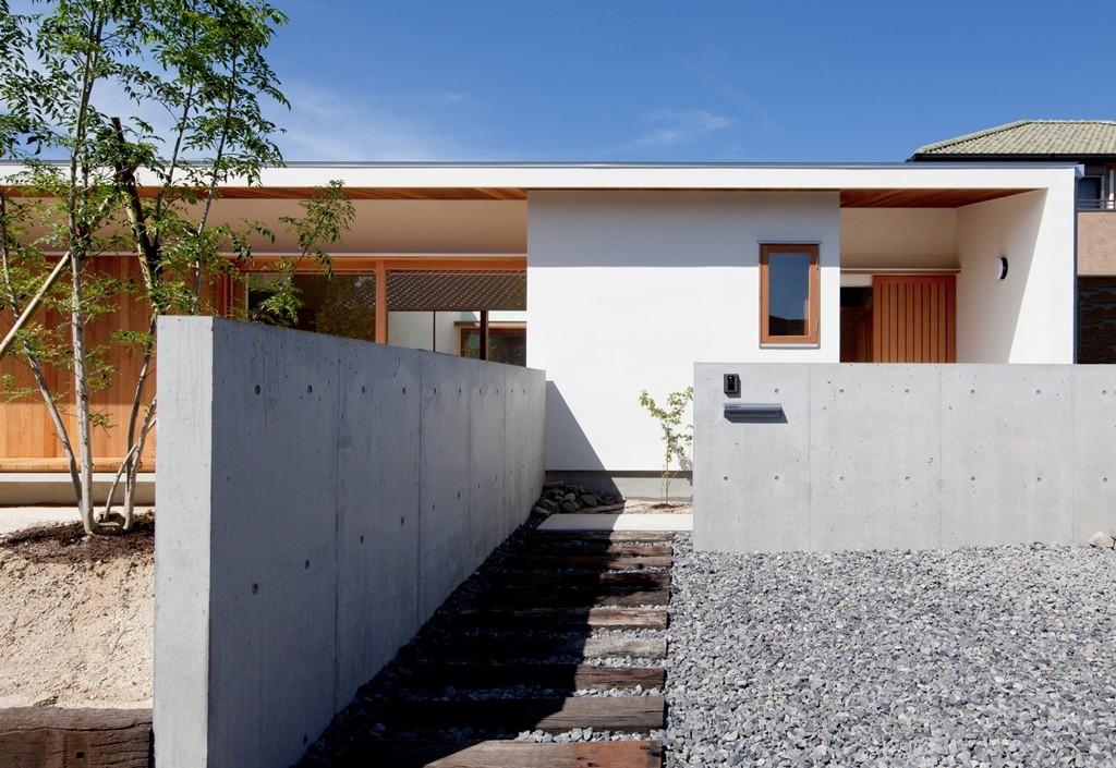 外観事例:外観(高浜の家/中庭を囲む平屋の住まい)