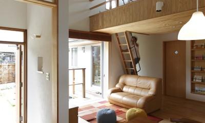 自然体で暮らす平屋~光・風・緑を取り込む家~ (リビングダイニング)