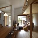 自然体で暮らす平屋~光・風・緑を取り込む家~の写真 リビングダイニング