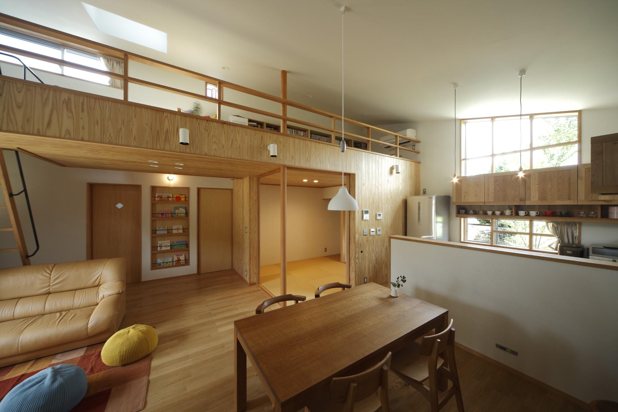 リビングダイニング事例:LDK(自然体で暮らす平屋~光・風・緑を取り込む家~)