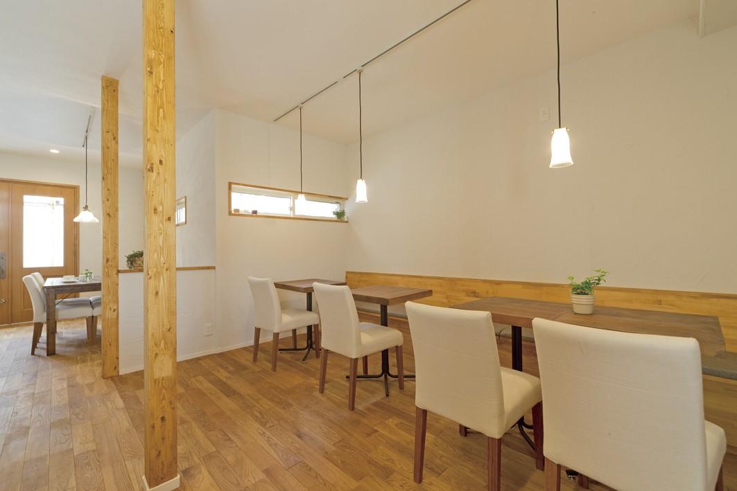 その他事例:カフェ1(大阪府Kさん邸:ナチュラル素材でほっこり優しい「自宅カフェ」)