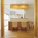 大阪府Kさん邸:ナチュラル素材でほっこり優しい「自宅カフェ」の写真 カウンター1