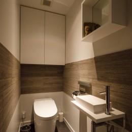 K邸- いいものは生かしながら、新しい家にする部分的リノベーション (トイレ)