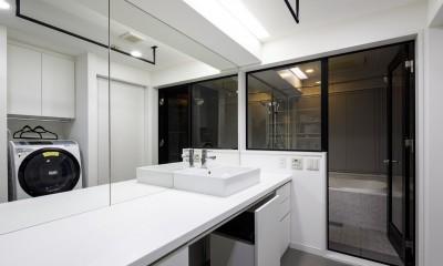 K邸- いいものは生かしながら、新しい家にする部分的リノベーション (洗面所)