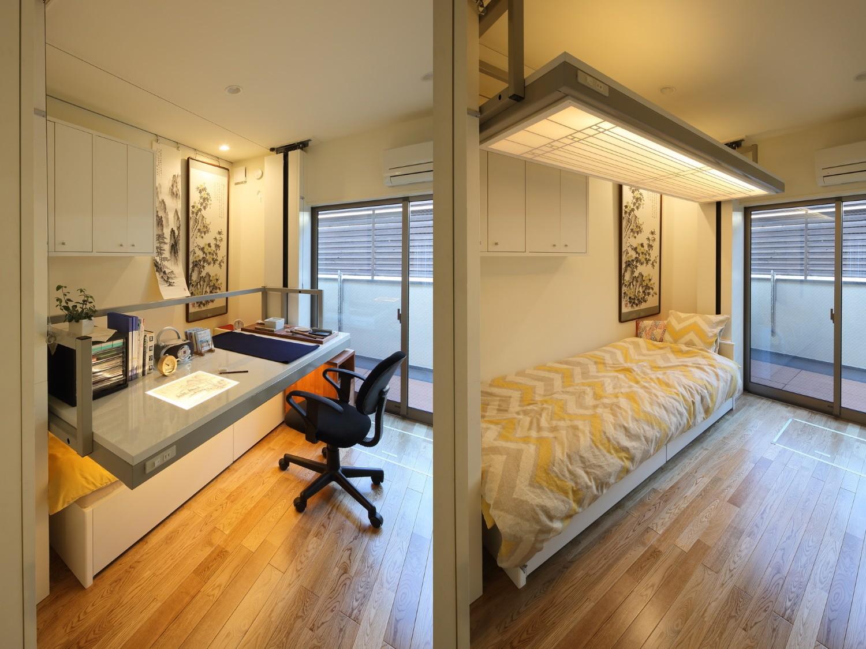 ベッドルーム事例:画室/寝室(三国の長屋)