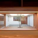 高浜の家/中庭を囲む平屋の住まいの写真 書斎コーナー