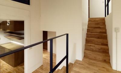 raita 特徴的なRC空間を活かし シンプルかつおしゃれにデザインした戸建テラスリノベ (階段1)