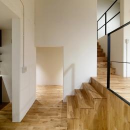 raita 特徴的なRC空間を活かし シンプルかつおしゃれにデザインした戸建テラスリノベ (階段2)