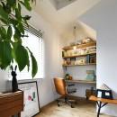 新しい家は体にやさしい自然素材の写真 可愛い三角屋根のワークスペース