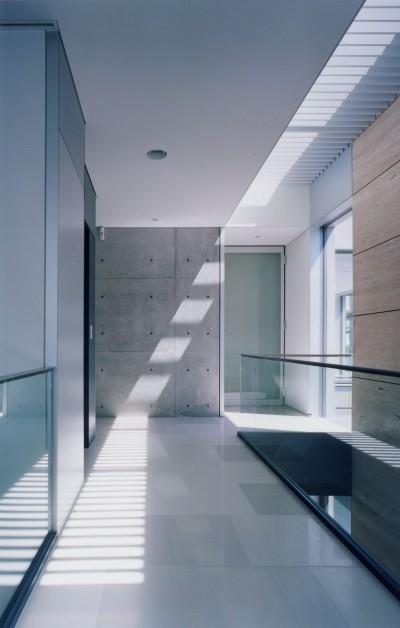 階段トップライト (山手の家)