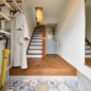 大好きなアジアンテイストの住まいの写真 六角形のタイルがお出迎え 個性あふれる玄関