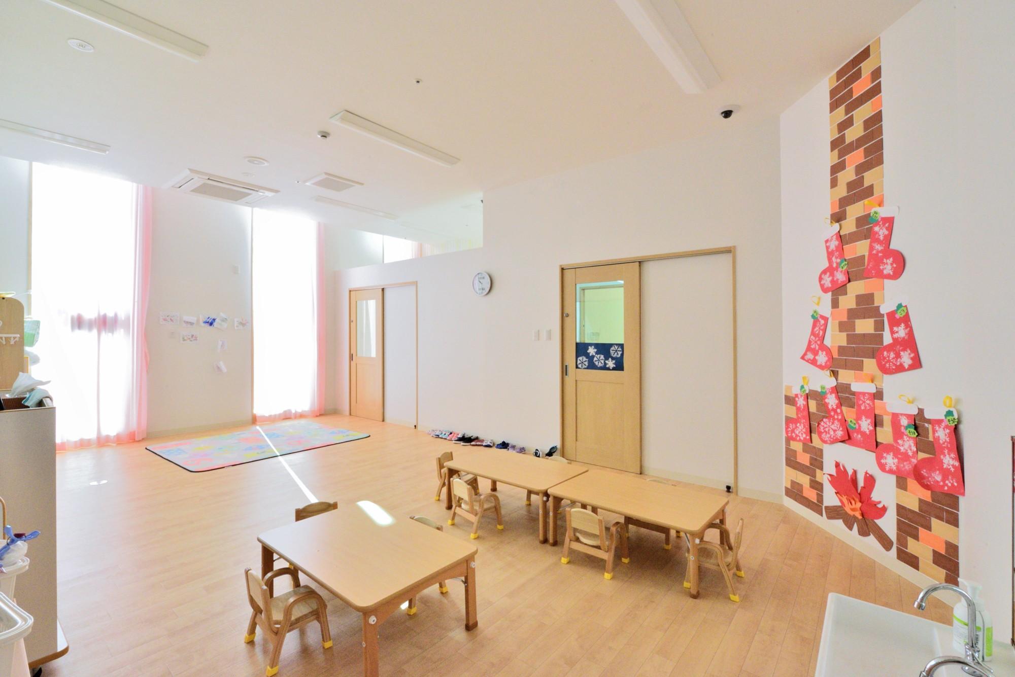 子供部屋事例:1歳児の保育室(横須賀市 ~にじのそら保育園~)