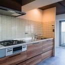 大空間のワンルームの写真 キッチン