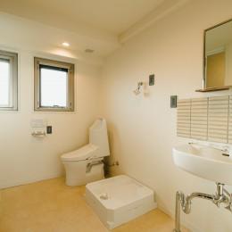 大空間のワンルーム (洗面所・ランドリー・WC・脱衣室)