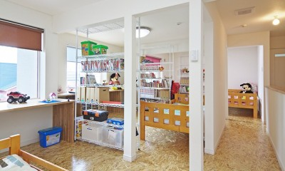 OSB House ~おおきく 育つ ぼくたちの家~ (2階 こども部屋)