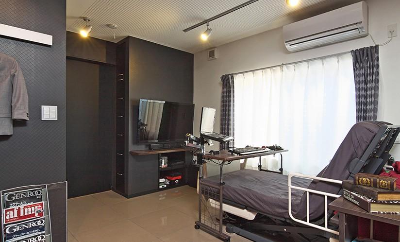 ベッドルーム事例:寝室(こだわりのデザインを実現したバリアフリー)
