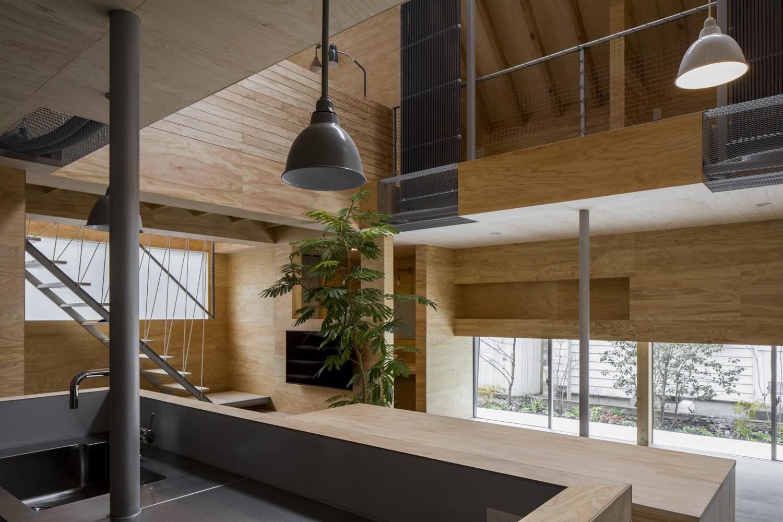 キッチン事例:1階_共有スペース(LDK)(ハコフネ)