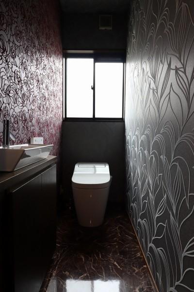 トイレ (アジアンリゾート風リノベーション)