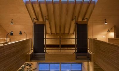 2階_子世帯スペース[夕景]|ハコフネ