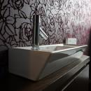 アジアンリゾート風リノベーションの写真 トイレ手洗い
