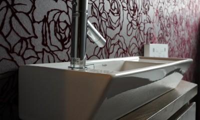 アジアンリゾート風リノベーション (トイレ手洗い)