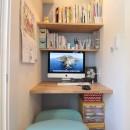 築40年以上の戸建住宅を快適なお住まいへリノベーションの写真 キッチン横に便利な奥様のワークスペース
