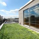 CmSoHo スキップフロアを用い、小さな土地に伸びやかな広がりのある空間を形成の写真 屋上