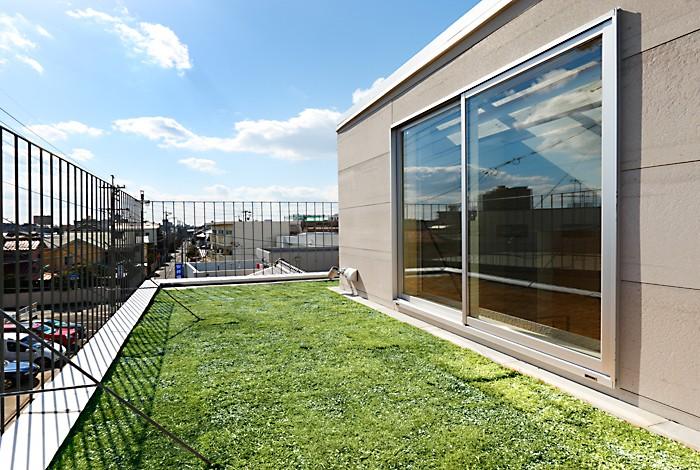 CmSoHo スキップフロアを用い、小さな土地に伸びやかな広がりのある空間を形成 (屋上)