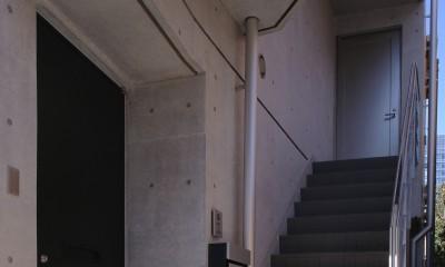 【神宮前 フラッツ AL <親の家>】 多様な用途を内包する箱 (玄関)