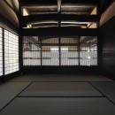 愛知の茅葺き再生の写真 千本格子の建具。