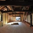 愛知の茅葺き再生の写真 囲炉裏部屋。