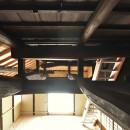 愛知の茅葺き再生の写真 小屋梁。