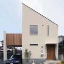 house-holの写真 大きなバルコニーのある狭小住宅外観