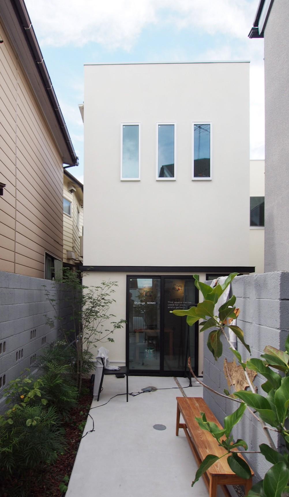 外観事例:路地状敷地を生かした外観(Shibuya-somo)