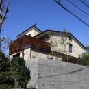 片瀬山の家〜相模湾を一望にするスキップフロアの家〜の写真 外観