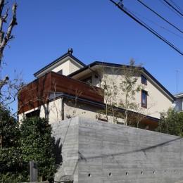 片瀬山の家〜相模湾を一望にするスキップフロアの家〜