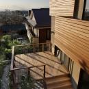 片瀬山の家〜相模湾を一望にするスキップフロアの家〜の写真 デッキテラス