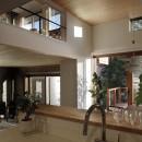 片瀬山の家〜相模湾を一望にするスキップフロアの家〜の写真 キッチン