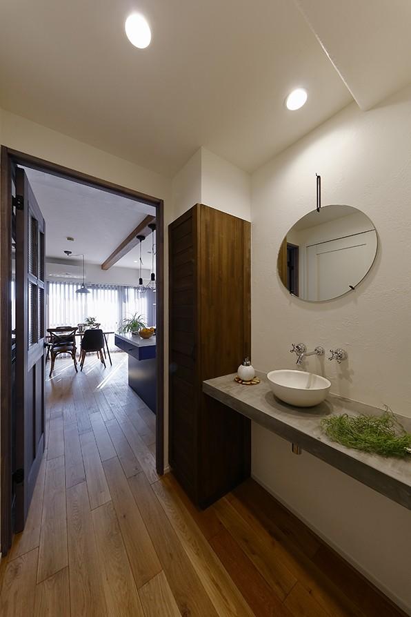 バス/トイレ事例:お洒落な洗面スペース(家事ラク!働くママのリノベーション)