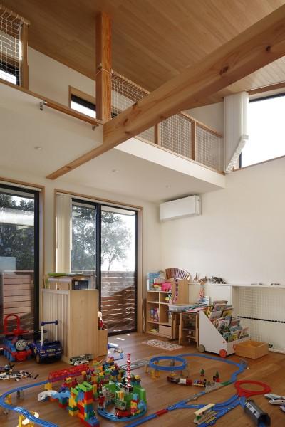 子供部屋 (片瀬山の家〜相模湾を一望にするスキップフロアの家〜)