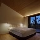 片瀬山の家〜相模湾を一望にするスキップフロアの家〜の写真 寝室