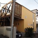 書斎とアトリエのある家|A HOUSEの写真 道路側外観