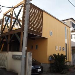 書斎とアトリエのある家|A HOUSE (道路側外観)