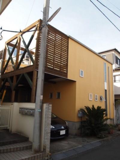 道路側外観 (書斎とアトリエのある家|A HOUSE)