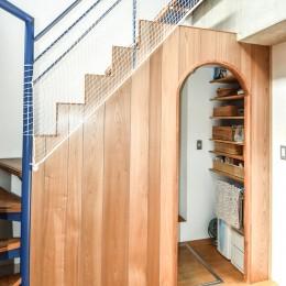 学芸大学 S邸 マンションリノベーション (階段)