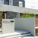 Aobadai no ie -庇のある家-の写真 アプローチ