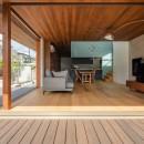 Aobadai no ie -庇のある家-の写真 リビング