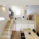 Tajima no ie -スキップフロアの家-の写真 リビング・ダイニング