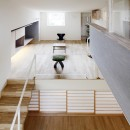 Tajima no ie -スキップフロアの家-の写真 リビング